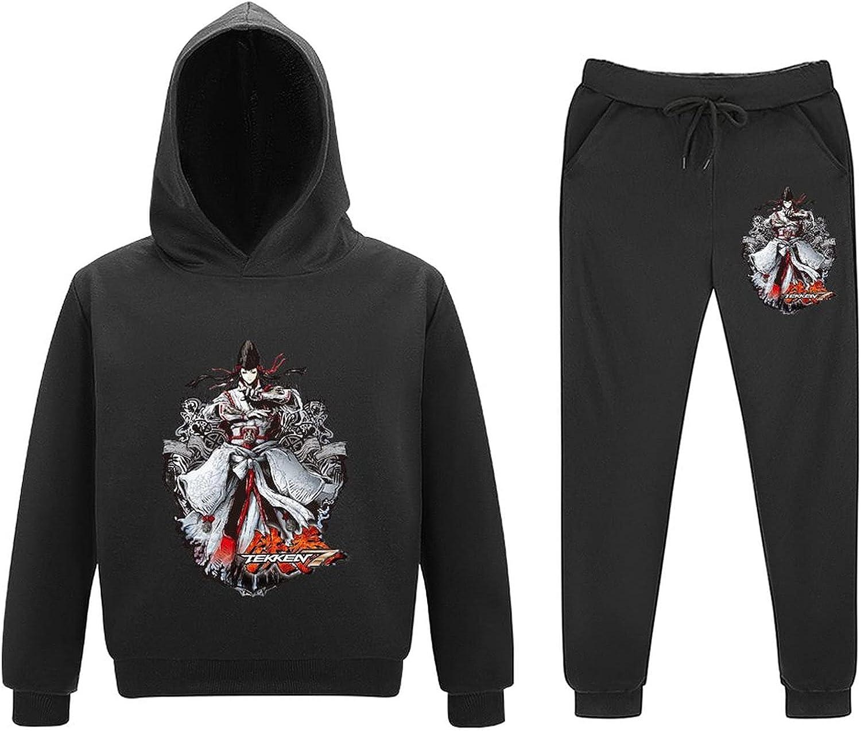 Te-kken 7 Little Kids Outfits Sweatsuits Pullover 2 Piece Toddler Boy Tee Girls Child Pants Set 5-11Y