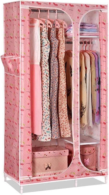 Xiao Jian Cloth Wardrobe Simple Wardrobe Combination Single Wardrobe Storage Clothes Dormitory Wardrobe (color   Pink)