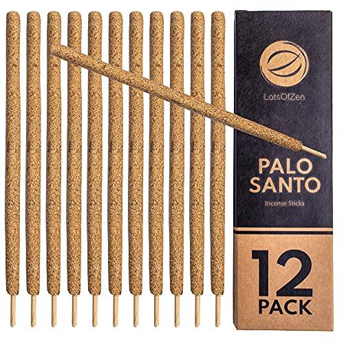 Palo Santo Incense Sticks Smudge Kit (12 Pack) — Incense Sticks for Bad Energy...