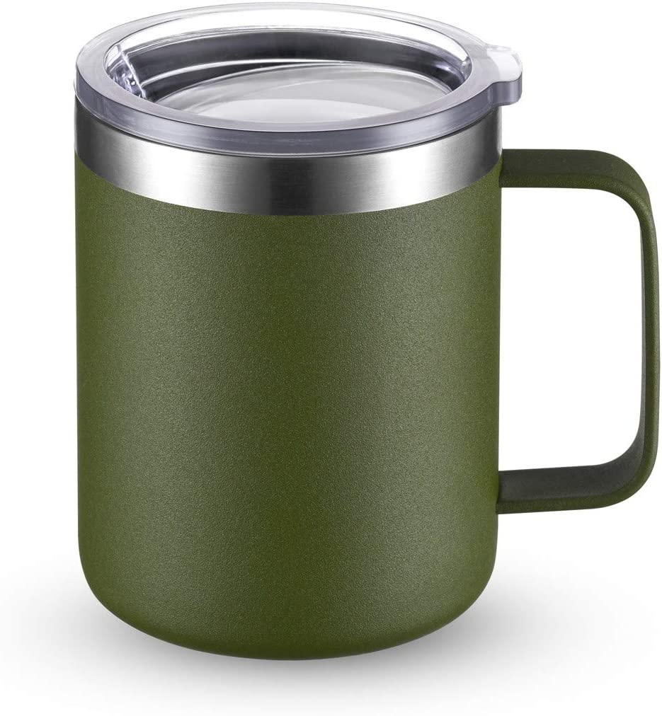 CIVAGO Stainless Steel Coffee Mug Cup Handle Special sale item Double Excellence with 12 oz