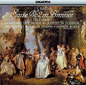 J.S. Bach: Suite No. 2 in B minor - Telemann: Concerto in E Minor & Quartetto in D Minor