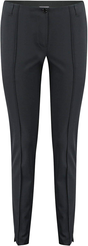 Basler Womens Plus High Rise Casual Straight Leg Pants Black 24