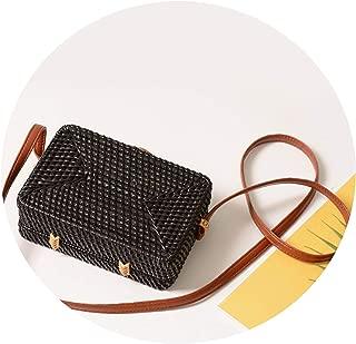 Fashion Round Straw Summer Style Women Handbags Bohemian Rattan Crossbody Handmade Woven Circular Bags