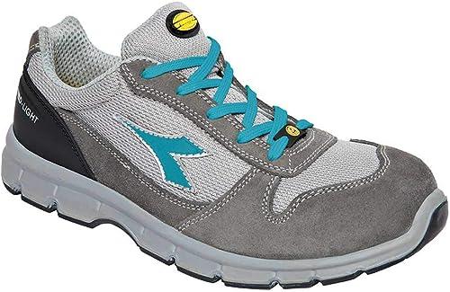 Diadora Run II Textile Low S1P SRC ESD, Farbe  Berggrau Scuba Blau, Größe  36