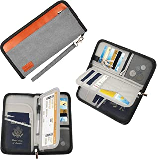 Travel Passport Holder Wallet Organizer