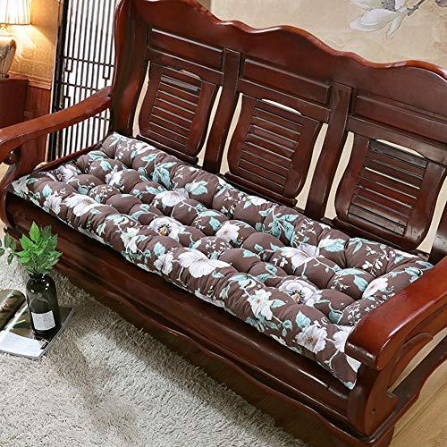 Alfombrilla de asiento de sofá suave y cómoda, para exteriores e interiores, cojín largo para banco de jardín, alfombrilla para banco de 2 a 3 plazas de metal o madera