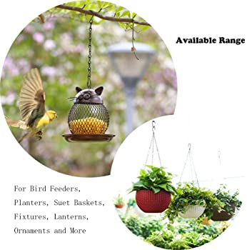Tosuced Hanging Chains 156 Inches for Bird Feeders, Billboards, Chalkboards, Planters and Decorative Ornaments( Black...