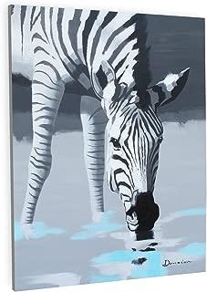 XinYa-art Original 30 x 40 Ex-Large Zebra Oil paiinting Artwork Handmade by Z.Shingya