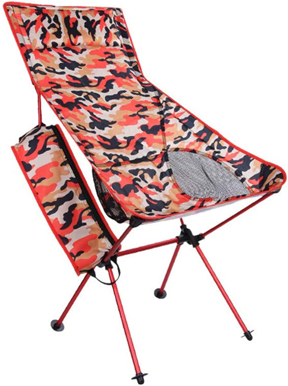 Yuqianqian Ultraleichtflugzeuge Camping Klappstühle Faltstuh Tarnung Camping Klappstuhl Drauen Portable Multifunktionale Stuhl Mit Aufbewahrungstasche Komfortable Hohe Zurück Design (Farbe   rot)