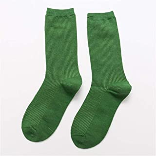 ZRDY Calcetines Largos De Algodón For Mujer Calcetines Cortos De Tubo Alto Calcetines Cortos Suaves Y Transpirables Calcetines Largos Y Largos Casuales De Calcetines Vintage (Color : Green)