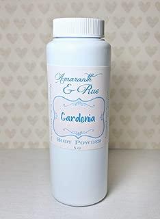 Natural Gardenia Body Powder 8 oz Amaranth & Rue