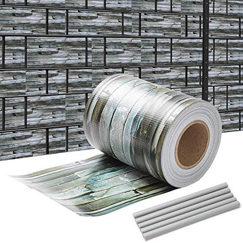 wolketon 35M x 19cm PVC Sichtschutz Streifen Zaunblende Folie Doppelstabmatten Zaun Zaunfolie 450 g/㎡