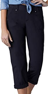 Lee womens Relaxed Fit Nikki Knit Waist Cargo Capri Pant Pants