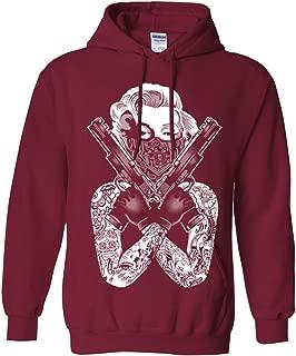 Marilyn Monroe Gangster Guns Tattoo Asst Colors Sweatshirt Hoodie