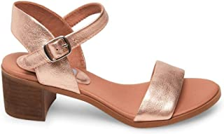 Women's April Heeled Sandal, Rose Gold, 7.5 M US