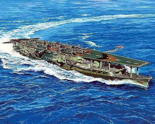 1 700 der japanischen Marine-Flugzeugtrager Ryuho Lange Deck Radierung Teile (W147E)