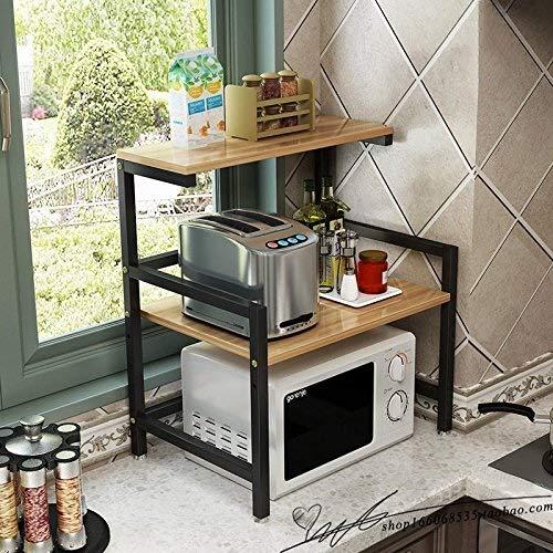 GaLon Keuken plank Baker's Rack Magnetron oven rack stand 2-tier plank, rijstkoker rekken, in hoogte verstelbaar ontwerp, 60x41x67cm