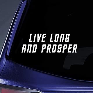Bargain Max Decals - Live Long Prosper - Spock Vulcan Sticker Decal Notebook Car Laptop 8