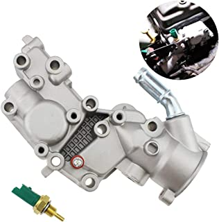 Upgraded Aluminium Thermostat Housing Coolant Water Flange & Sensor for Citroen BX C15 C3 MK/