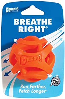 Chuckit! 31932 Breathe Right Fetch Ball Medium - 1 Pack, Orange