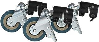 Notewisher 3Pcs C-Stand Swivel Caster Wheel Set,25MM Diameter for Photography Century Foldable Light Stand Tripod Magic Leg
