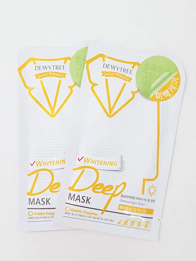 虫ウナギパラメータ(デューイトゥリー) DEWYTREE ホワイトニングディープマスク 20枚 Whitening Deep Mask 韓国マスクパック (並行輸入品)
