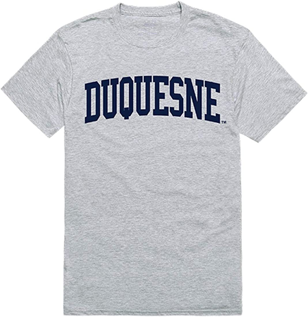 Duquesne Dukes NCAA Special price for a limited time Men's t Shirt Game Heather Tees Day - Bargain sale Grey