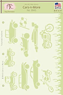 Fairytale Creations Cars-N-More Stencil, 8.5