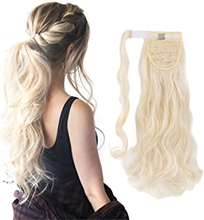 """18"""" Wrap Around Ponytail Extension Long Wavy Curly Clip in Synthetic Soft Silky for Women Girls"""