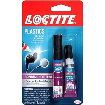Loctite Super Glue Plastics Bonding System with Activator 2-Gram (681925)