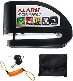 MOGOI Motorcycle Bicycle Alarm Disc Lock, Motorbike Padlock Disk Brake Lock - Anti Theft Brake Rotor Wheel Padlock Securit...
