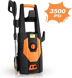 mrliance 3500PSI Electric Pressure Washer, 2.0GPM Electric Power Washer High Pressure Washer with Spray Gun, Brush, and 4 Quick-Connect Spray Tip (Orange)