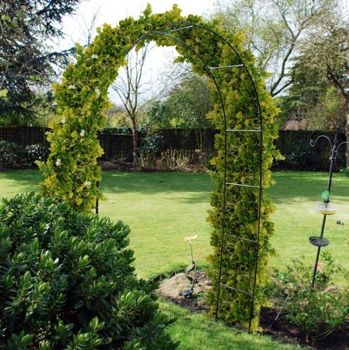 OnlineDiscountStore 2.4M STEEL GARDEN ROSE ARCH FOR CLIMBING PLANTS TRELLIS