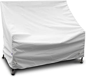 KoverRoos Weathermax 14202 4-Feet Bench/Glider Cover, 51-Inch Width by 26-Inch Diameter by 35-Inch Height, White
