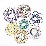magia Mandala Flor Cesta Juguete 36 Cambiando la pulsera circular de bucle 3D Adornos para el hogar Rompecabezas Meditación Aliviar la ansiedad Atrezzo Niños Adultos (7 piezas)