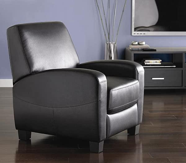 人造革黑色推回家庭影院躺椅
