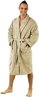 Men's Robe, Turkish Cotton Terry Shawl Bathrobe Made in Turkey