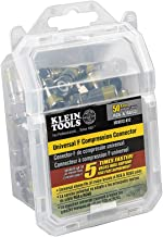 Klein Tools VDV812-612 Universal F Compression Connectors With Universal Sleeve Technology, 50-Pack