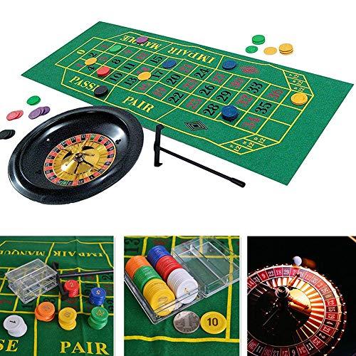 Dequate Roulette Wheel - Luxury Roulette Spiel Set - 10 Zoll - Spaß Freizeit Unterhaltung Tischspiele Für Erwachsene Kinder, 1St