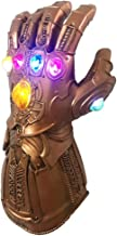 Infinity Gauntlet Portable Electronic ThanosGlove Arm LED Light PVC Gloves Toys Gift for Halloween Carnival Party …