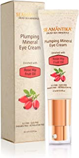 Eye Cream Anti Aging Natural Cream for Dark Circle, wrinkle cream, Crows Feet, Puffiness – Nourishing Eye Cream w/Rosehip Oil, Argan Oil, Evening Primrose Oil by SEAMANTIKA