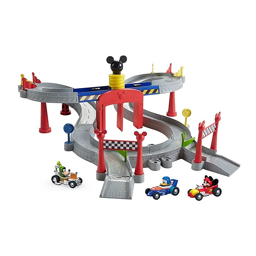 Disney Mickey and the Roadster Racers, Mickey Ears Raceway With 3 Roadster Cars