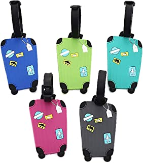 ETYUN Luggage Tags with Privacy Cover Travel Accessories for Women Men and Kids 5 Pcs