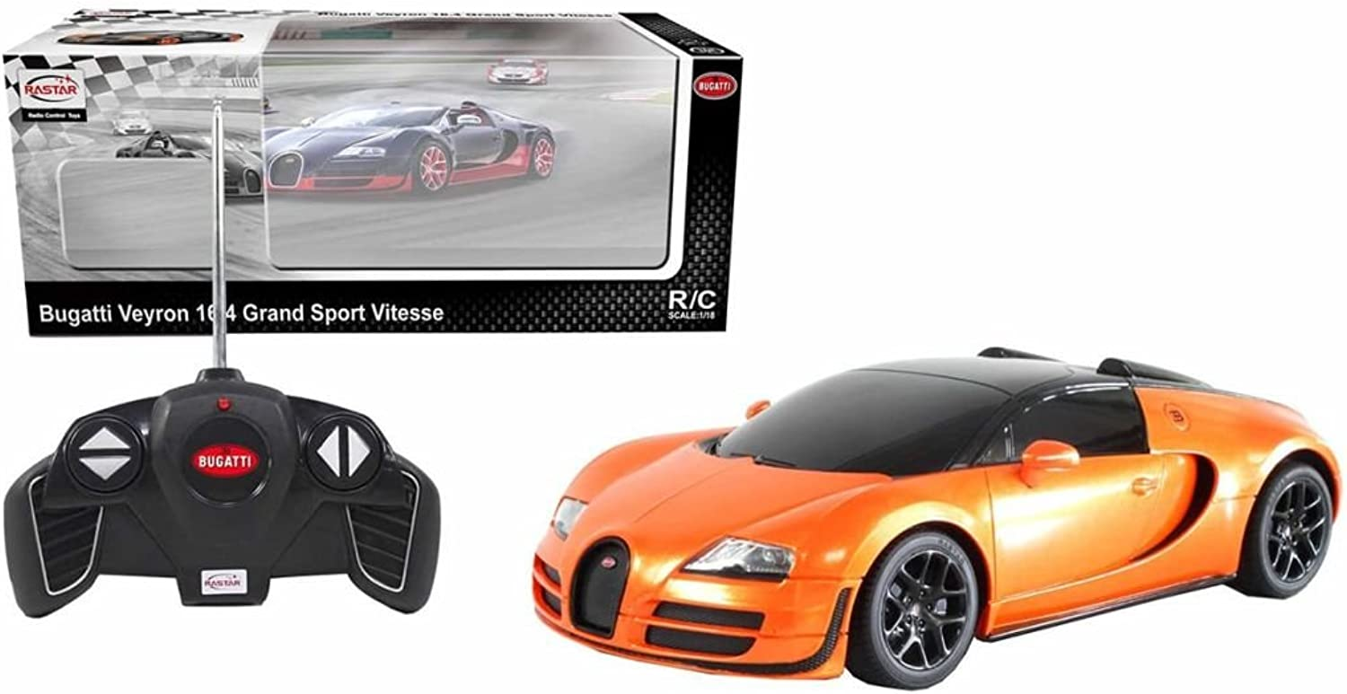 1 18 Scale Licensed Bugatti Veyron 16.4 Grand Sport Vitesse RC Car RTR (colors May Vary) Authentic Body Styling