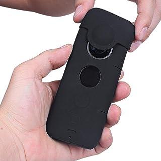 HOLACA Juego de piel protectora de silicona compatible con la cámara de acción Insta360 One X 360 a prueba de agua protección suave y liviana de la cámara One X 360