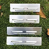 Hi Flame Aluminum Set of 4 Screen/Wind Guard Waterproof Grill Accessories for Outdoor Cooking Blackstone (Fit for 28' Griddle)