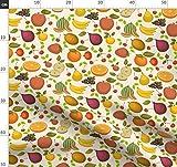 Obst, Apfel, Wassermelone, Banane, Traube, Erdbeere, Orange