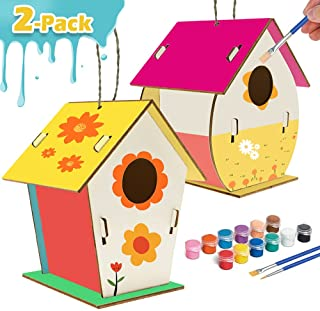 Kids Crafts Wood Arts and Crafts for Kids DIY Bird House Kit for Children to Build and Paint Reinforced Design - Creative ...