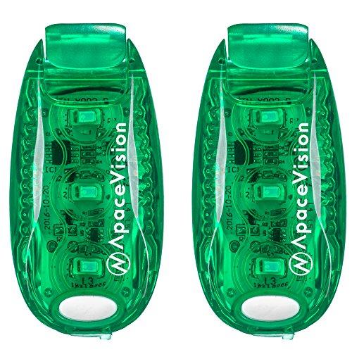 EverLightFX USB Luce di Sicurezza LED Ricaricabile (Confezione da 2) by Apace - Luce Posteriore Bicicletta Super Luminosa - Funziona Benissimo come Luce per Correre, Jogging, Cani, Luce Lampeggiante