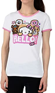 Tokidoki Japanese Character Anime Say Hello Women's Ringer T-Shirt